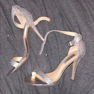 Silver Rhinestone Steve Madden Realov-r sandals